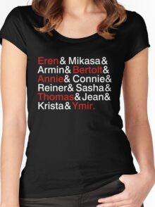 Attack On Titan Characters Women's Fitted Scoop T-Shirt