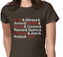 Attack On Titan Characters Womens Fitted T-Shirt