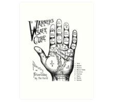 Palmreading - Vintage palmistry - Fortunetelling - NewAge - Tarot - Psychic Art Print