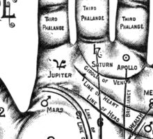 Palmreading - Vintage palmistry - Fortunetelling - NewAge - Tarot - Psychic Sticker