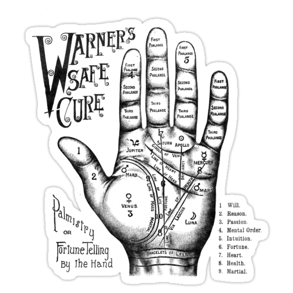 Palmreading - Vintage palmistry - Fortunetelling - NewAge - Tarot - Psychic by eclecticgroove