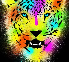 POP Tiger - Colorful Paint Splatters and Drips - Art Prints by Denis Marsili
