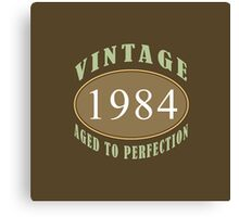 1984 Vintage Birthday Print Canvas Print