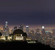 Los Angeles City Skyline by Jerome Obille