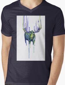 Moose Drip Trip Mens V-Neck T-Shirt