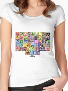 Super Smash Bros. for WiiU - Roster #1 Women's Fitted Scoop T-Shirt