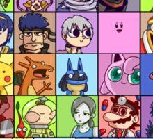 Super Smash Bros. for WiiU - Roster #1 Sticker