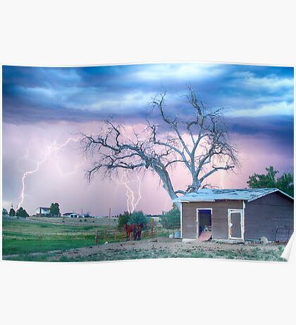 Country Horses Riders On The Storm Poster