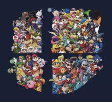 Super Smash Bros. WiiU and 3Ds + Ryu Kids Tee