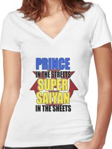The Prince In The Streets Women's Fitted V-Neck T-Shirt