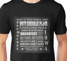 Des Moines Famous Landmarks Unisex T-Shirt