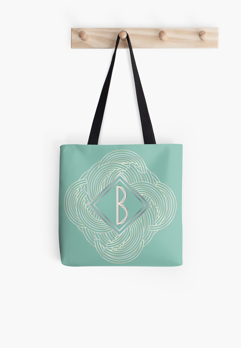 1920s Blue Deco Swing with Monogram letter B by CecelyBloom
