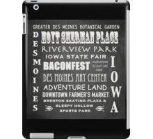 Des Moines Famous Landmarks iPad Case/Skin