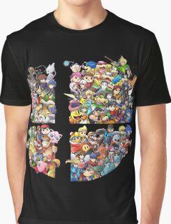 Super Smash Bros. WiiU and 3Ds + Ryu + Cloud Graphic T-Shirt