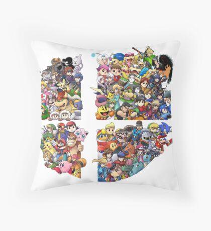 Super Smash Bros. WiiU and 3Ds + Ryu + Cloud Throw Pillow