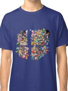 Super Smash Bros. WiiU and 3Ds + Ryu + Cloud Classic T-Shirt