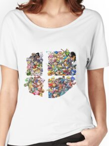 Super Smash Bros. WiiU and 3Ds + Ryu + Cloud Women's Relaxed Fit T-Shirt
