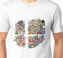 Super Smash Bros. WiiU and 3Ds + Ryu + Cloud Unisex T-Shirt