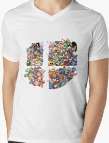 Super Smash Bros. WiiU and 3Ds + Ryu + Cloud Mens V-Neck T-Shirt