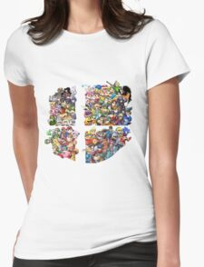 Super Smash Bros. WiiU and 3Ds + Ryu + Cloud Womens Fitted T-Shirt