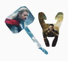 Thor and Loki by sassyloki