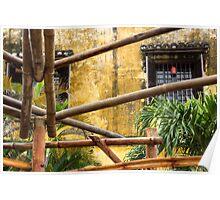 bamboo poles Poster