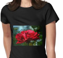 Red Rose ...... Womens Fitted T-Shirt