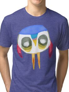 The Owl with No Eyes Tri-blend T-Shirt