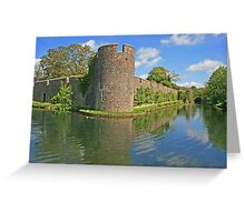 Bishop's Palace Moat, Wells Greeting Card