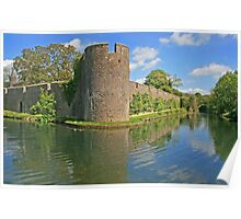 Bishop's Palace Moat, Wells Poster