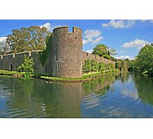Bishop's Palace Moat, Wells Photographic Print