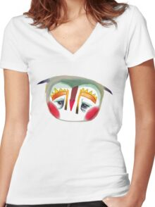 The Owl That Looks Like A Penguin Women's Fitted V-Neck T-Shirt