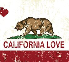 California Love Heart Distressed  by NorCal