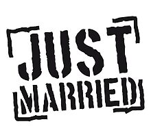 Just Married Stamp Design by Style-O-Mat