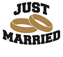 Just Married Rings Logo Design by Style-O-Mat