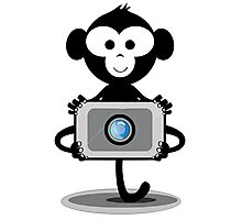 Monkey Photograpy Photographic Print
