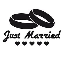 Just Married Rings Heart Design by Style-O-Mat