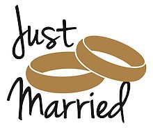 Just Married Rings Design by Style-O-Mat