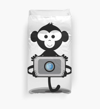 Monkey Photograpy Duvet Cover