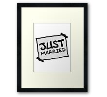 Just Married Notice Framed Print