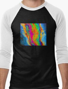 Tie Dye Pride Men's Baseball ¾ T-Shirt