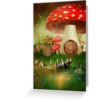 Creative cartoon mushrooms Greeting Card