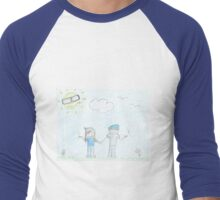 smoking Couple Men's Baseball ¾ T-Shirt