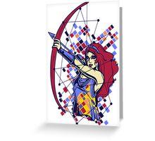 Archer Woman Greeting Card