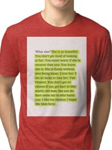 The Fault in Our Stars Green Passage Tri-blend T-Shirt