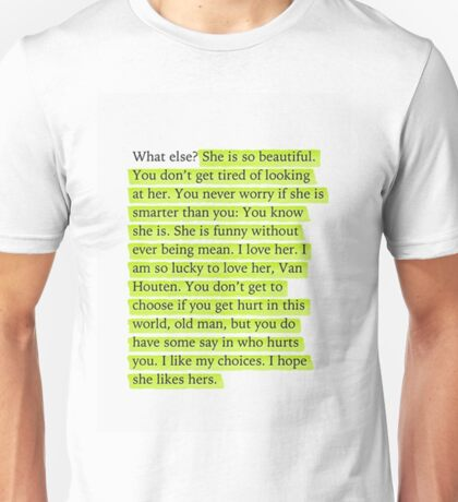 The Fault in Our Stars Green Passage Unisex T-Shirt