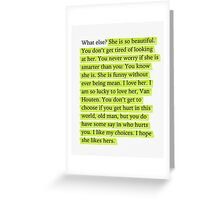 The Fault in Our Stars Green Passage Greeting Card
