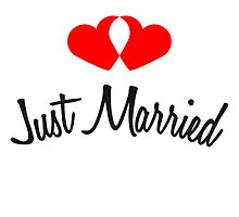 Just Married Hearts Design by Style-O-Mat