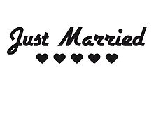 Just Married Heart-Design by Style-O-Mat