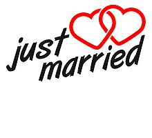 Just Married Heart Logo Design by Style-O-Mat